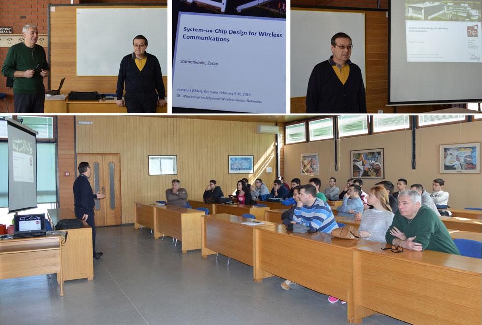 Predavanje prof. dr Zorana Stamenkovića - 17. mart 2016. godine